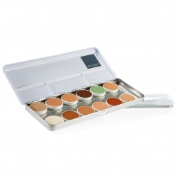 Cream Make-up Camouflage-Palette, 12 Farben